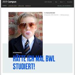 Hätte ich mal BWL studiert!