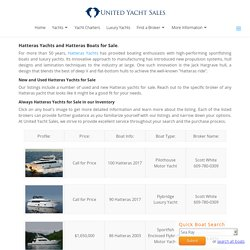 Used Hatteras Yachts For Sale