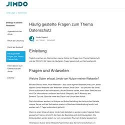 Häufig gestellte Fragen zum Thema Datenschutz – Jimdo Legal
