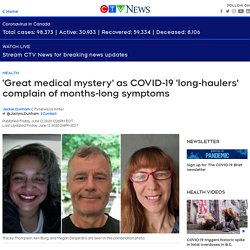 COVID-19 'long-haulers' complain of symptoms lasting weeks and even months