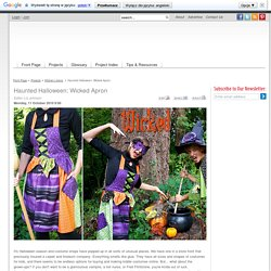 Haunted Halloween: Wicked Apron - Sew4Home