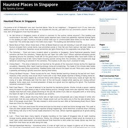 Haunted Places in Singapore - Spooky Corner