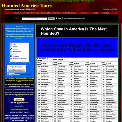 THE MOST HAUNTED STATE IN AMERICA --- Which State In America Is The Most Haunted?