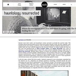Hauntology resurrected