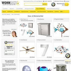 Haus- & Wohnenartikel bei WOHNLICHT.com