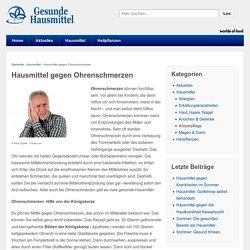 Hausmittel gegen Ohrenschmerzen - Gesunde-Hausmittel.de