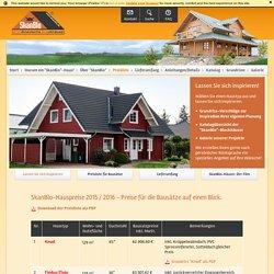 SkanBlo-Hauspreise 2013 - Preise für Blockhaus-Bausätze