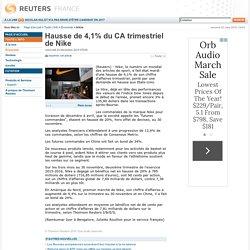 Hausse de 4,1% du CA trimestriel de Nike