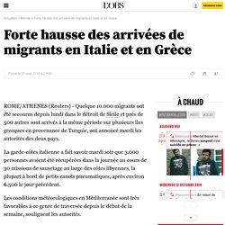 Forte hausse des arrivées de migrants en Italie et en Grèce - 30 août 2016