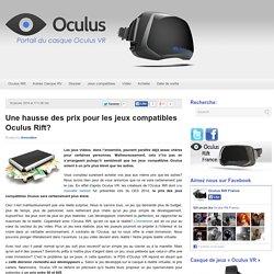 Une hausse des prix pour les jeux compatibles Oculus Rift?