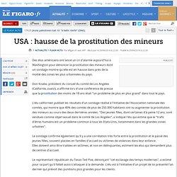 USA : hausse de la prostitution des mineurs