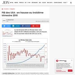 PIB des USA: en hausse au troisième trimestre 2016