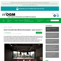 Haut Conseil des Biotechnologies : quel avenir ?