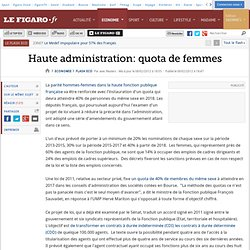 Flash Eco : Haute administration: quota de femmes