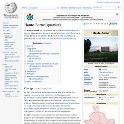 Parc scientifique de la Haute Borne.