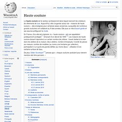 Fashion pearltrees for Haute couture wikipedia