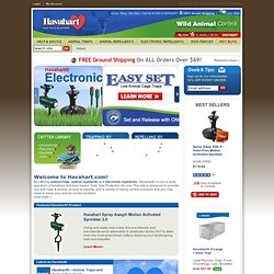 Havahart® Live Animal Traps and Animal Repellents - Total Yard Protection From Critters & Wild Life ! | Havahart.com