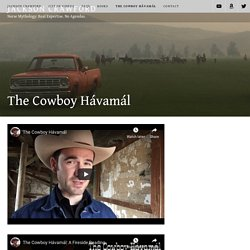 The Cowboy Hávamál – Jackson Crawford