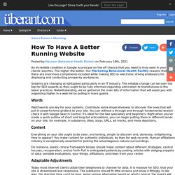 How To Have A Better Running Website