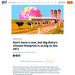 Don't have a cow, but Big Dairy's climate footprint is as big as the UK's