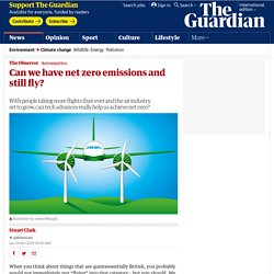 Can we have net zero emissions and still fly?
