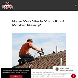 Have You Made Your Roof Winter Ready?