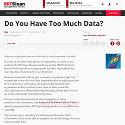 Do You Have Too Much Data? - Improvisations - MIT Sloan Management Review