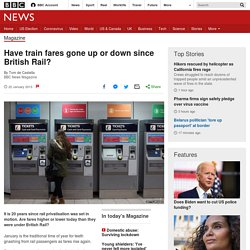 Have train fares gone up or down since British Rail?