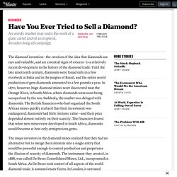 Have You Ever Tried to Sell a Diamond? - Edward Jay Epstein