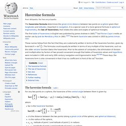Haversine formula - Wikipedia