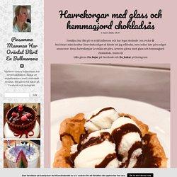 frufe.blogg.se - Havrekorgar med glass och hemmagjord chokladsås