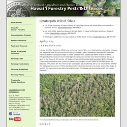Hawai'i Forestry Extension: 'Ohi'a Wilt