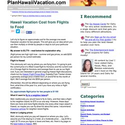 Hawaii Vacation Cost from Flights to Food