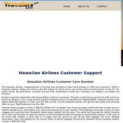 Hawaiian Airlines Customer Support Number 1-888-301-5548