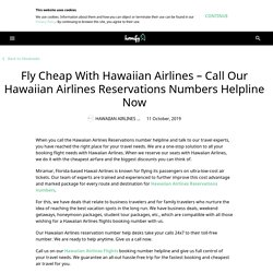 Call Our Hawaiian Airlines Reservations Number toll free Now