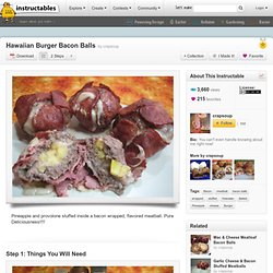 Hawaiian Burger Bacon Balls