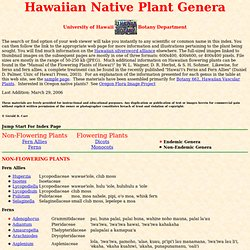 an Native Plants, UH Botany