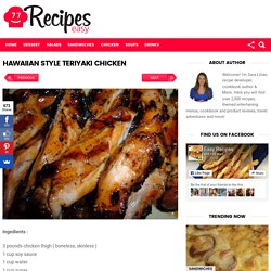 HAWAIIAN STYLE TERIYAKI CHICKEN – Easy Recipes