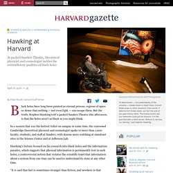 Hawking at Harvard