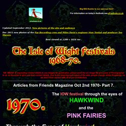 hawkwind and the pink fairies at the isle of wight festival1970