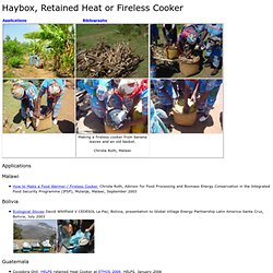 Haybox, Retained Heat or Fireless Cooker