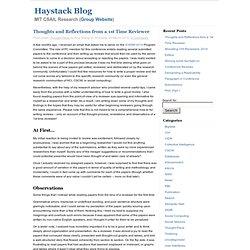 Haystack Blog