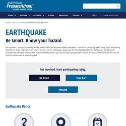 Hazard: Earthquake/Be smart