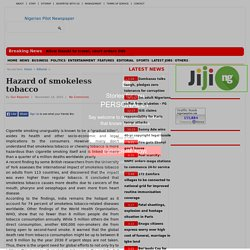 Hazard of smokeless tobacco