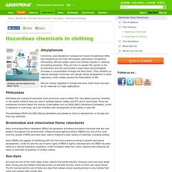 Hazardous chemicals in clothing