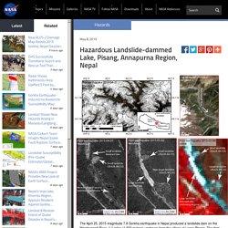 Hazardous Landslide-dammed Lake, Pisang, Annapurna Region, Nepal