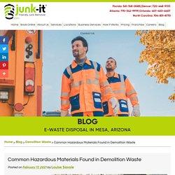 Common Hazardous Materials Found in Demolition Waste