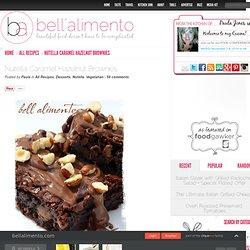 Nutella Caramel Hazelnut Brownies