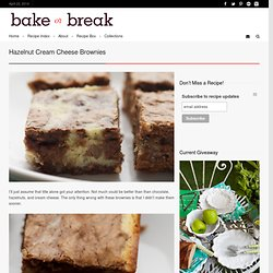 Hazelnut Cream Cheese Brownies