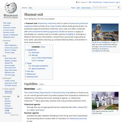 Hazmat suit - Wikipedia